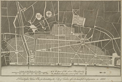 Sr. Cristopher Wren's Plan for Rebuilding the City of London after the dreadfull Conflagration in 1666